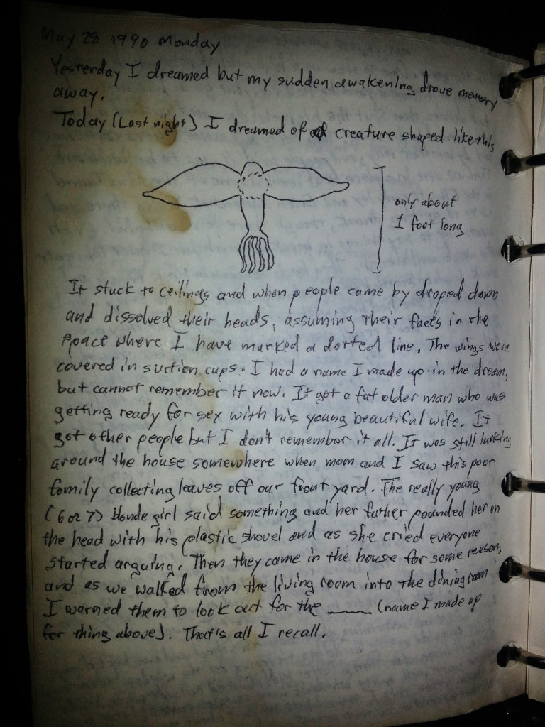 dream journal may 28 1990 monday