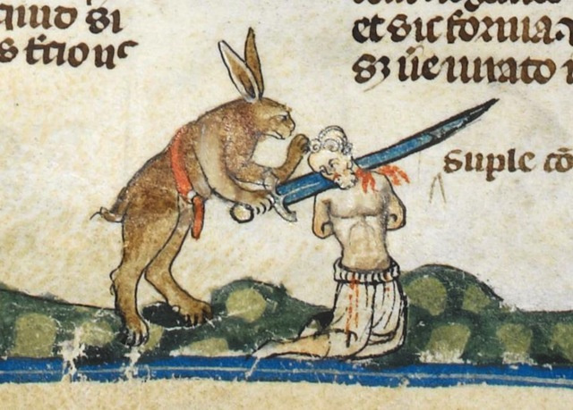 rabbits 2 form The Smithfield Decretals c1300